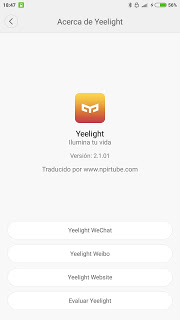 App traducida Yeelight 2.1.0.1