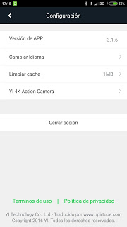 App traducida Xiaomi Yi Action Camera 3.1.6