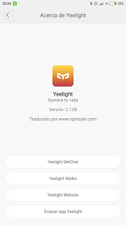 App traducida Yeelight 2.1.0.8