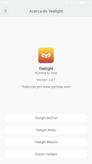 App traducida Yeelight 2.0.7