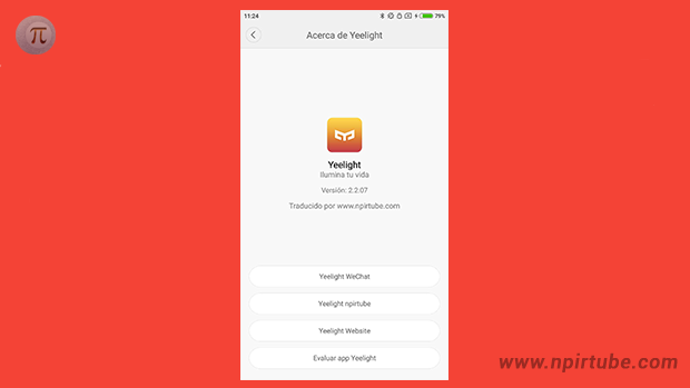 App traducida Yeelight 2.2.07