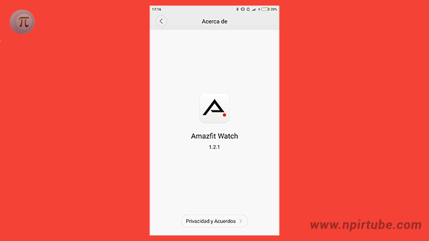 App traducida Amazfit Watch 1.2.1
