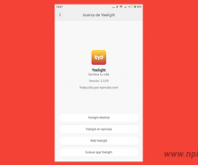 App traducida Yeelight 2.3.09