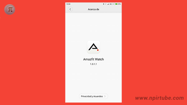 App traducida Amazfit Watch 1.3.1.1