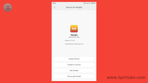 App traducida Yeelight 2.3.13