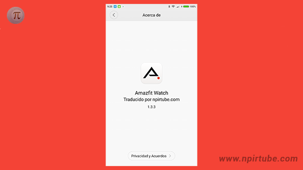 App traducida Amazfit Watch 1.3.3