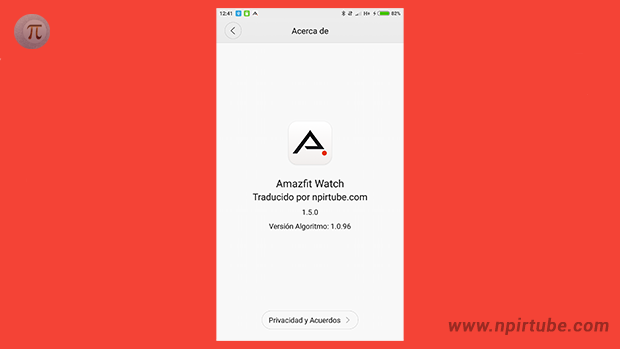 App traducida Amazfit Watch 1.5.0