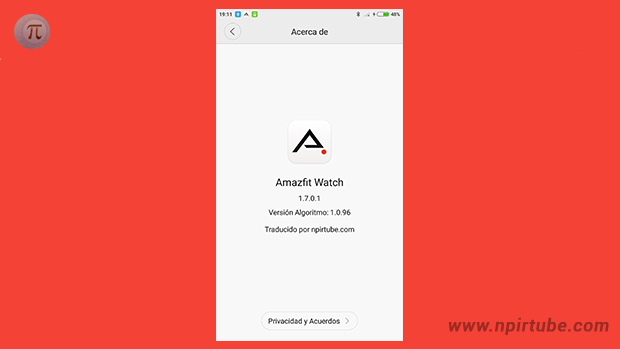 App traducida Amazfit Watch 1.7.0.1