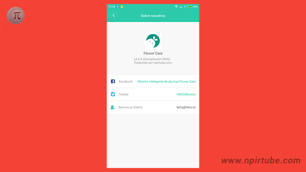 App traducida Flower Care 4.2.0