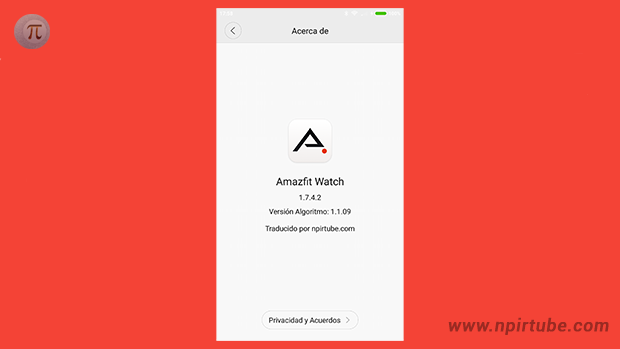 App traducida Amazfit Watch 1.7.4.2