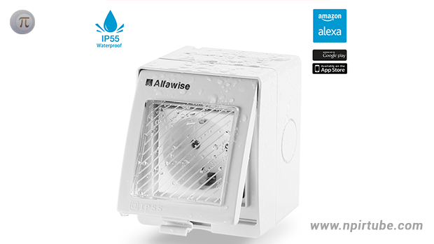 Alfawise WIFI Waterproof Wall Socket