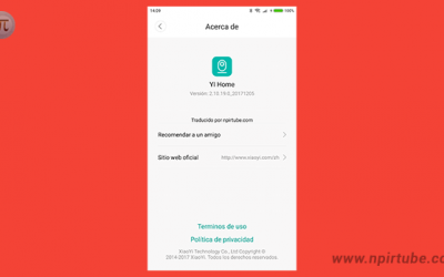 App traducida al español YI Home Camera 2.10.19