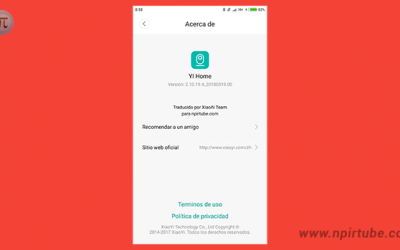 App traducida al español YI Home Camera 2.10.19.4