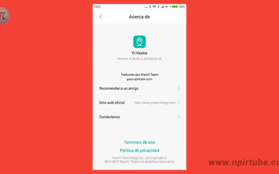 App traducida YI Home Internacional 2.20.20.1