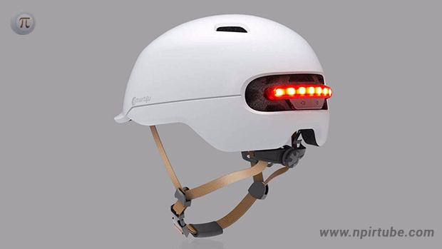 Casco con luz LED de Smart4u para bicicletas