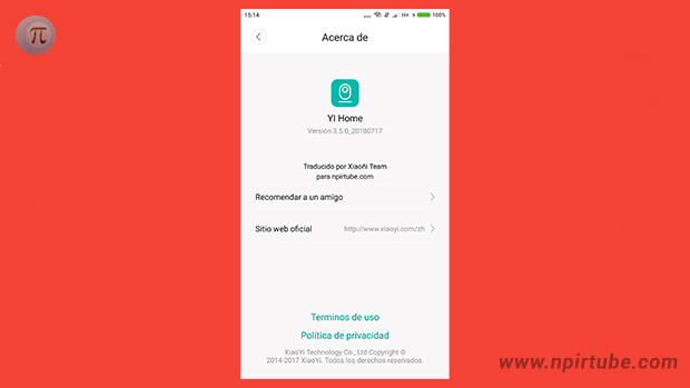 yi home camera español 3.5.0