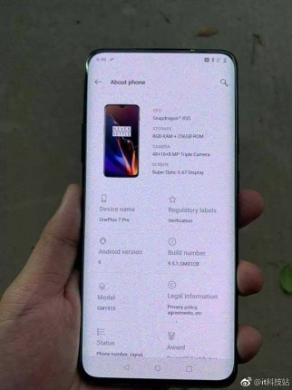 oneplus 7 frontal